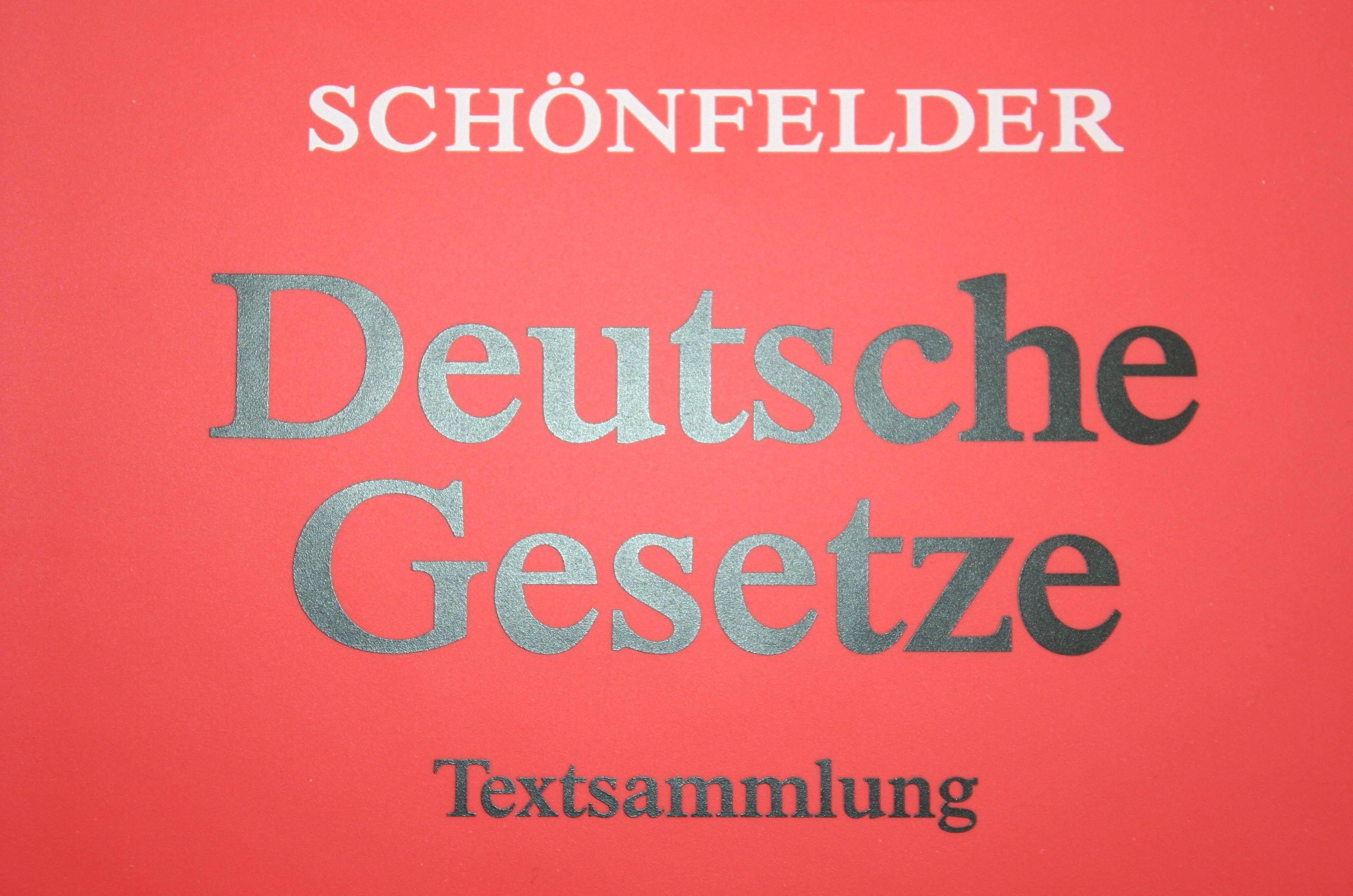 Sch�nfelder Deutsche Gesetze Bild WG
